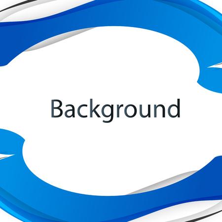 Modern Blue Wave White Background Vector Image