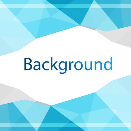 Modern Blue Polygon Design Background Vector Image