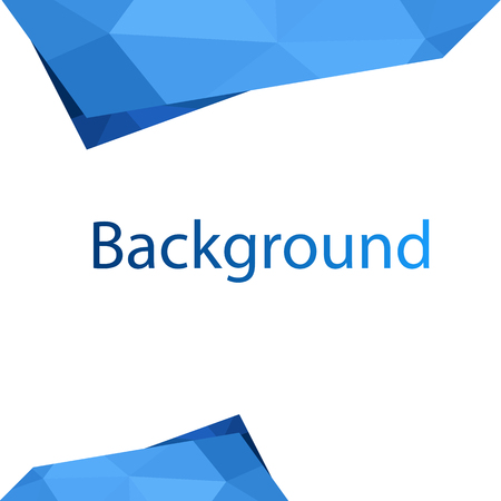 Modern Blue Polygon White Background Vector Image