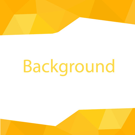 Modern Yellow Polygon White Background Vector Image