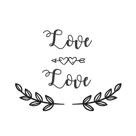 Love Love Arrow Grass White Background Vector Image