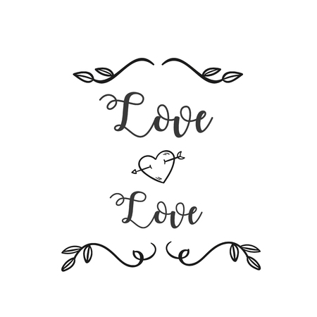 Love Love Heart Arrow Grass White Background Vector Image Ilustração