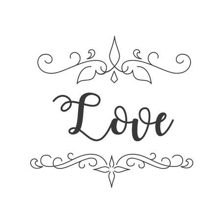 Love Abstract Design White Background Vector Image Illustration