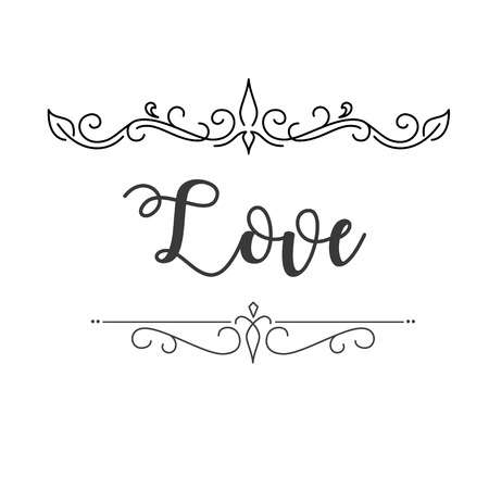 Love Abstract Design White Background Vector Image Ilustração