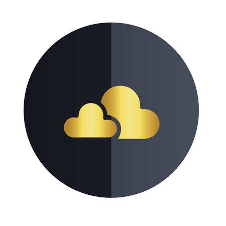 Cloud Icon Design Black Circle Background Vector Image Ilustração