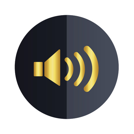 Volume Icon Black Circle Background Vector Image
