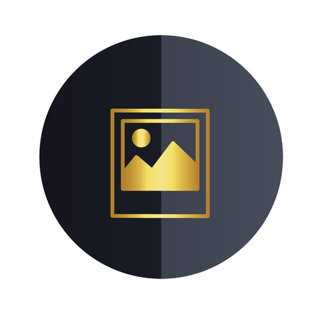 Gallery Icon Black Circle Background Vector Image