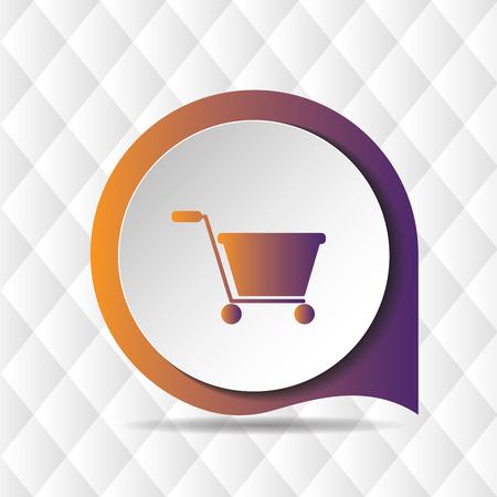 Shopping Cart Icon Geometric Background Vector Image