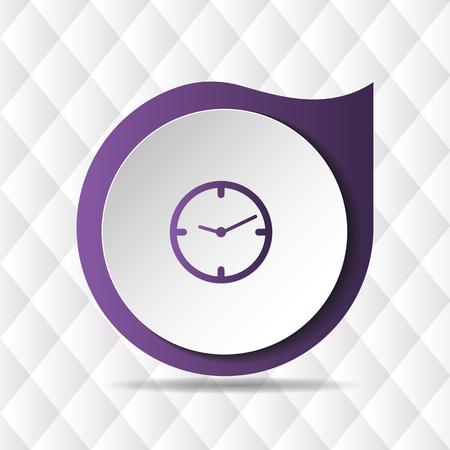 Purple Clock Icon Geometric Background Vector Image