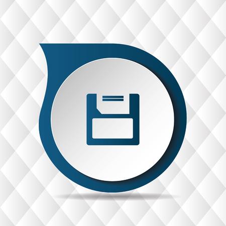 Floppy Disk Icon Geometric Background Vector Image