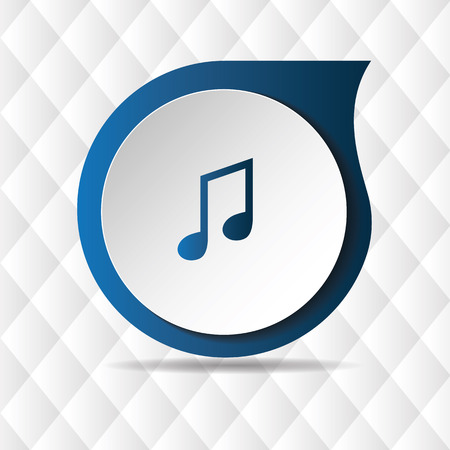 Music Note Icon Geometric Background Vector Image