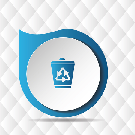 Recycle Bin Icon Geometric Background Vector Image