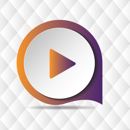 Play Button Icon Geometric Background Vector Image