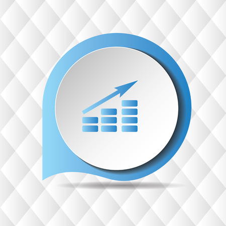Growing Graph Icon Geometric Background Vector Image