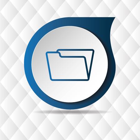 Blue Folder Icon Geometric Background Vector Image