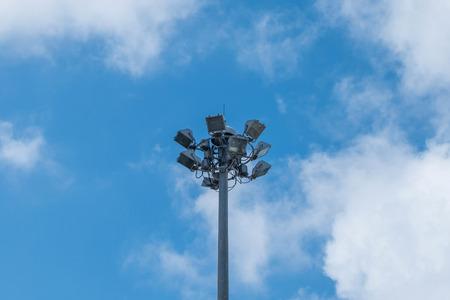 sport light in the stadium