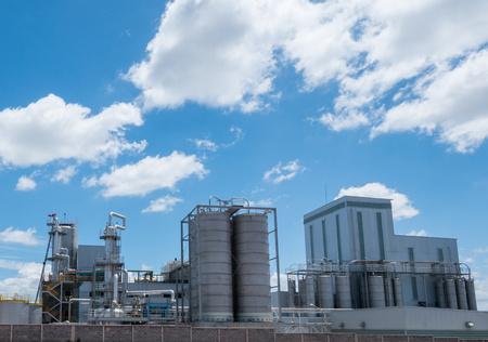 globalwarming: factory in summer