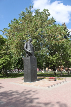 Monument in bronze in Yaroslavl