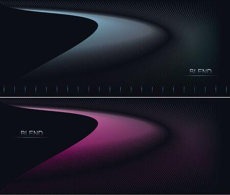 Smooth lines on dark. Blended lines effect. Vector illustration Illusztráció