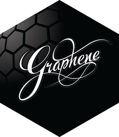 nanotube: Graphene hexagonal emblem design. New carbon materials science. Vector illustration