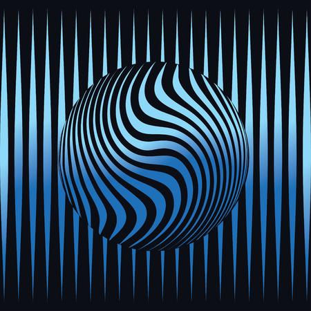 3d sphere emblem design. Logo emblem. Futuristic background. Illusztráció