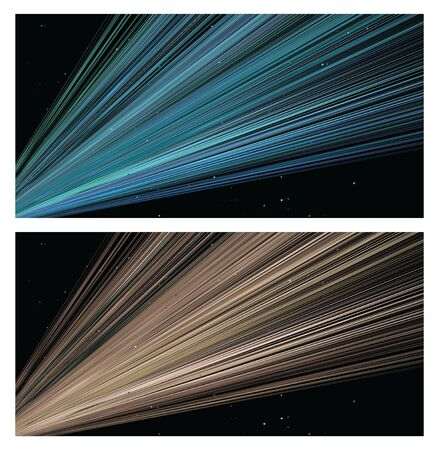 Light glow rays isolated on black background. Vector illustration Illusztráció
