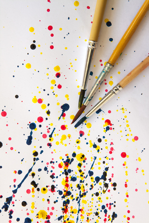 leaden splash: abstract watercolor color painting watercolour on background Stock Photo
