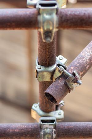 andamio: Soporte Andamios, los elementos de andamios Foto de archivo