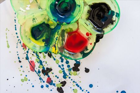 fleck: abstract watercolor color painting watercolour on background Stock Photo