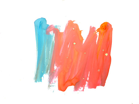 hand made pictured: Abstract watercolor art hand paint on white background Stock Photo