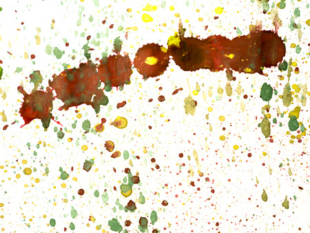 leaden splash: Abstract watercolor art hand paint on white background Stock Photo