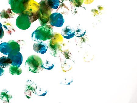 taint: Abstract watercolor art hand paint on white background Stock Photo