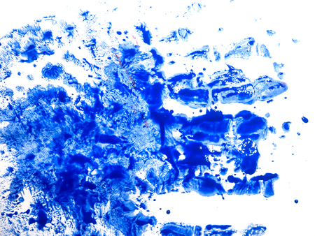 hand made pictured: Set of colorful watercolor hand painted splashes isolated on white background