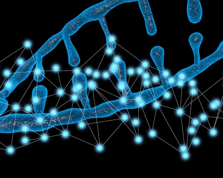 3-dimensional illustration of DNA molecular , Molecules of living things, Concepts of body modification