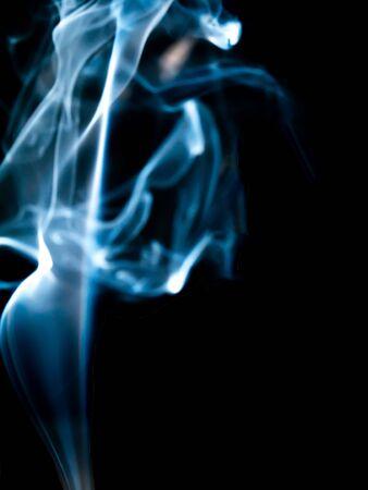 smoke texture on black background Imagens - 147885625