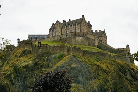 Edinburgh castle on castle rock in the capital of Scotland Editorial