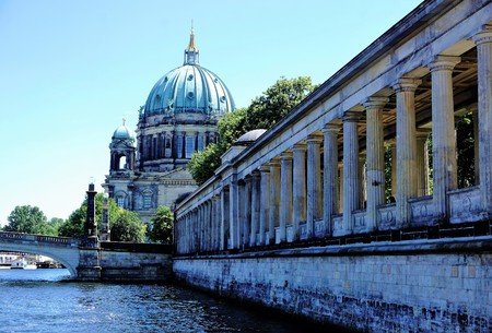 Berlin - cathedral, Spree river and museum Stock Photo