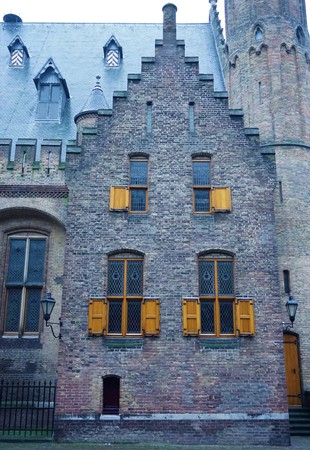governement: Old brick house in the inner court of The Hague