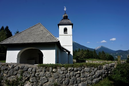 Saint Catherine Church in Zasip near Bled, Slovenia