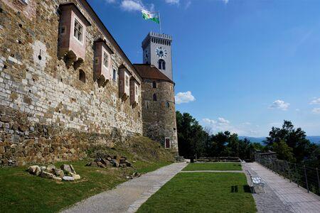 The castle of Ljubljana, Slovenia with park