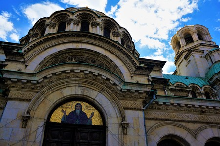 Detail of the Alexander Nevsky cathedral in Sofia, Bulgaria