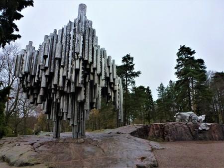Sibelius Monument in a park in Helsinki, Finland