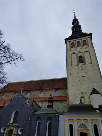 Bell tower of St Nicholas' church in Tallinn, Estonia