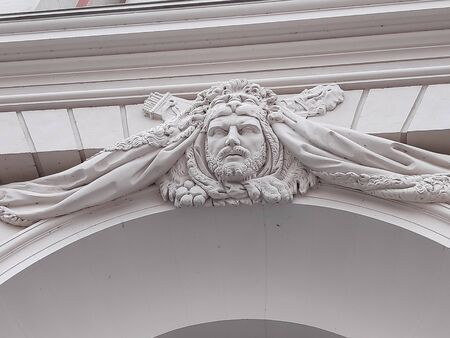 Man-shaped keystone over the arch of the Fortuna Portal in Potsdam