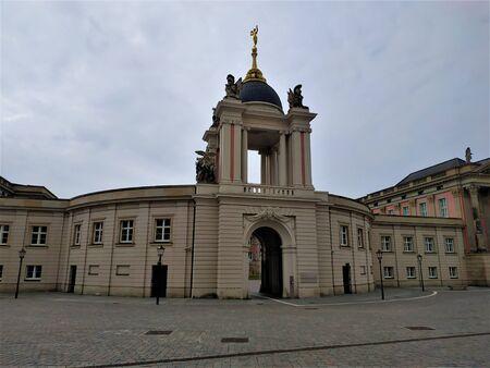 The Fortuna Portal in Potsdam from St Nicholas' church Archivio Fotografico