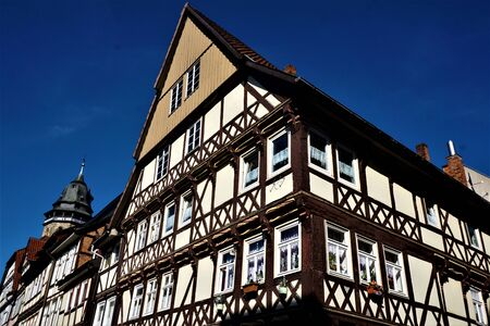 A beautiful half-timbered house in Hannoversch Munden, Germany