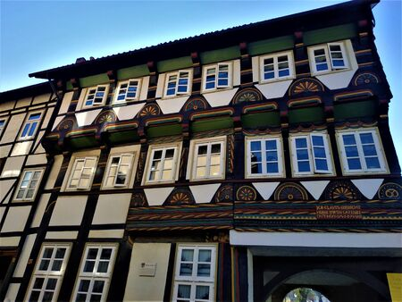 Ancient house in the old town of Einbeck, Germany