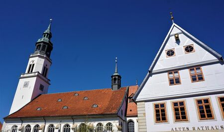 St Marien church and old town hall in Celle, Germany