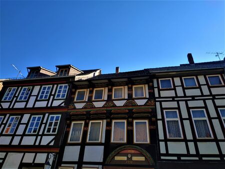 Half timbered house in the old town of Einbeck, Germany