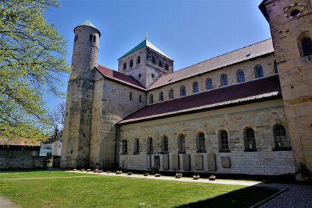 Courtyard of St. Michael's Church in Hildesheim, Germany